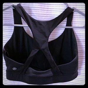 LuLu sports bra.  Black.  Size 8.